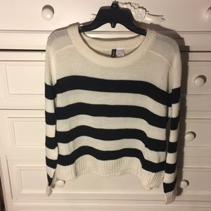 LAST CHANCE! Divided Striped Sweater